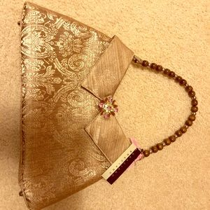 New Braciano Purse - gold tones with beaded handle